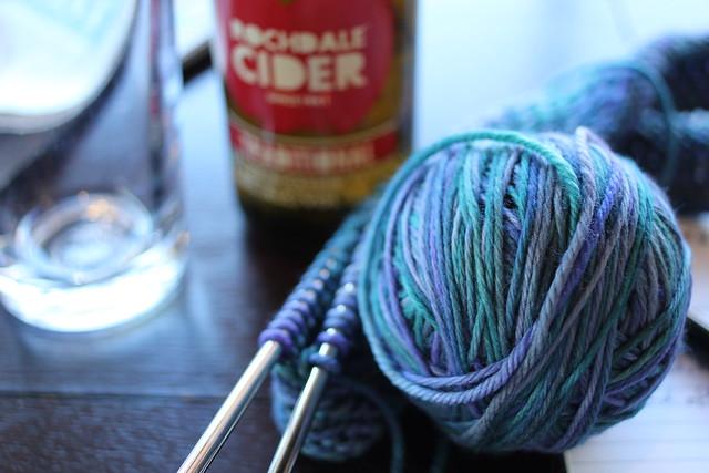 Tuesday: knitting and cider