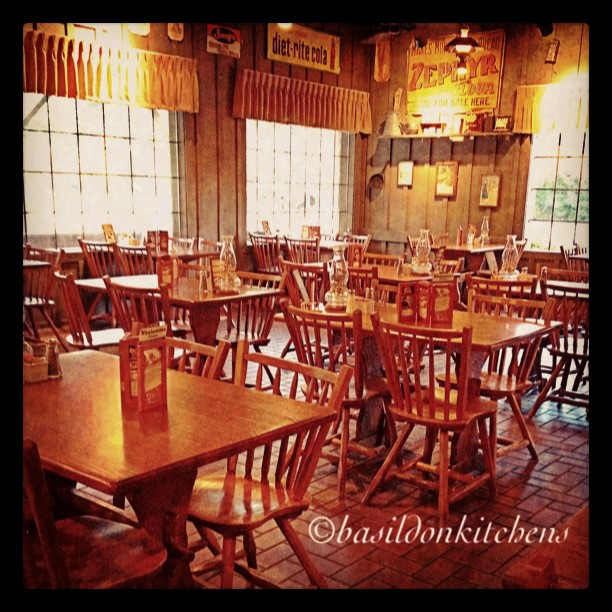 Sep 16 - group {a rare sight; a group of empty tables @ Cracker Barrel, but not for long} #photoaday #group #crackerbarrel #restaurant