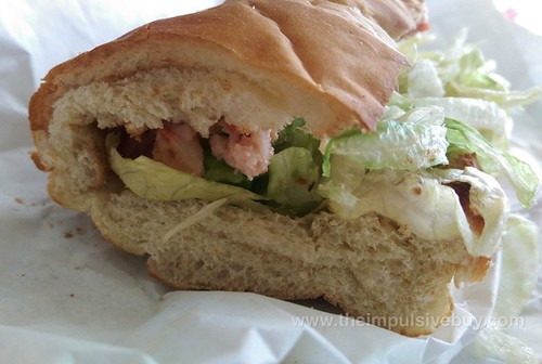 Subway Atlantic Canada Lobster Sandwich Closeup