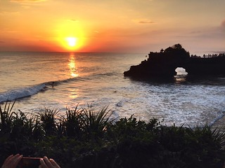 Tanah Lot at sunset