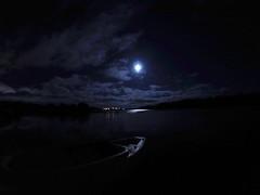 Super Moon over Long Lake
