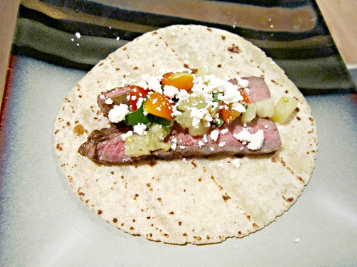 Garlic Ginger Steak Tacos with Pineapple Salsa 2