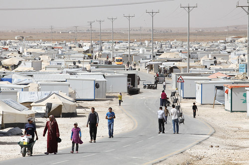 Daily life in Zaatari refugee camp in Jordan
