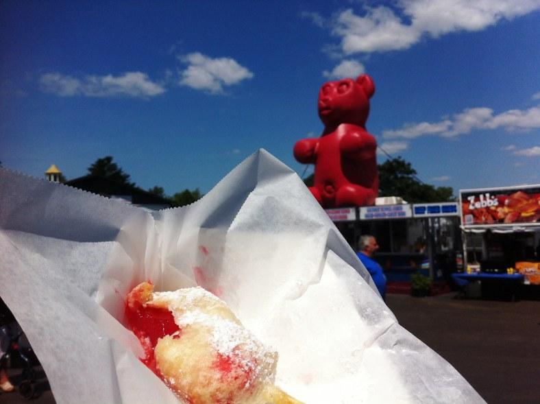 Deep-Fried Gummy Bear Was Sweet and Tasted Like a Cherry Pie. Erie County Fair, Hamburg, N.Y., Aug. 10, 2014