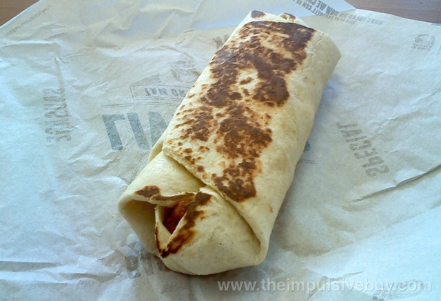 Taco Bell Fiesta Potatoes Grilled Breakfast Burrito 1