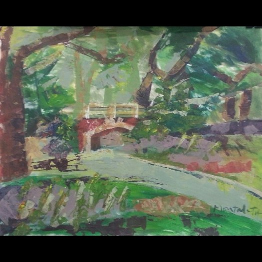 Summer morning Acrylic on canvas paper 16x20 inches July 22, 2014  Quick plenty air painting at Central Park. Happy I'm able to paint faster now, this was done in 1.5 hours.   #nyc #sunnyday #centralpark #outdoor #painting #pleinair #balto #trees #summer