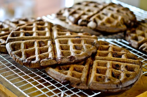 Dark Chocolate Waffles-10