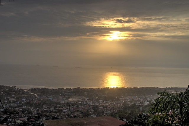 Freetown sunset in HDR