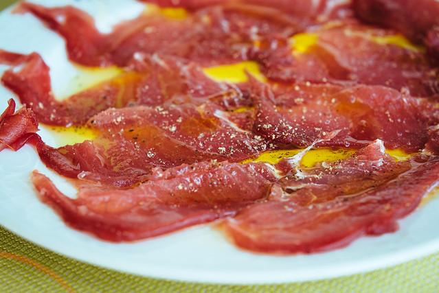 Bij Ristorante Da Vittorio: verse rauwe tonijn, net binnengezwommen
