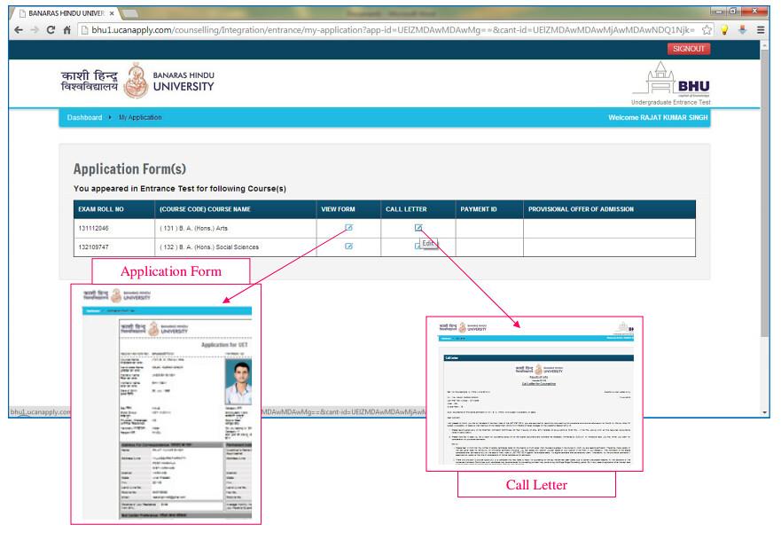 BHU Call Letter & Application Form 2020 - Get Here | AglaSem