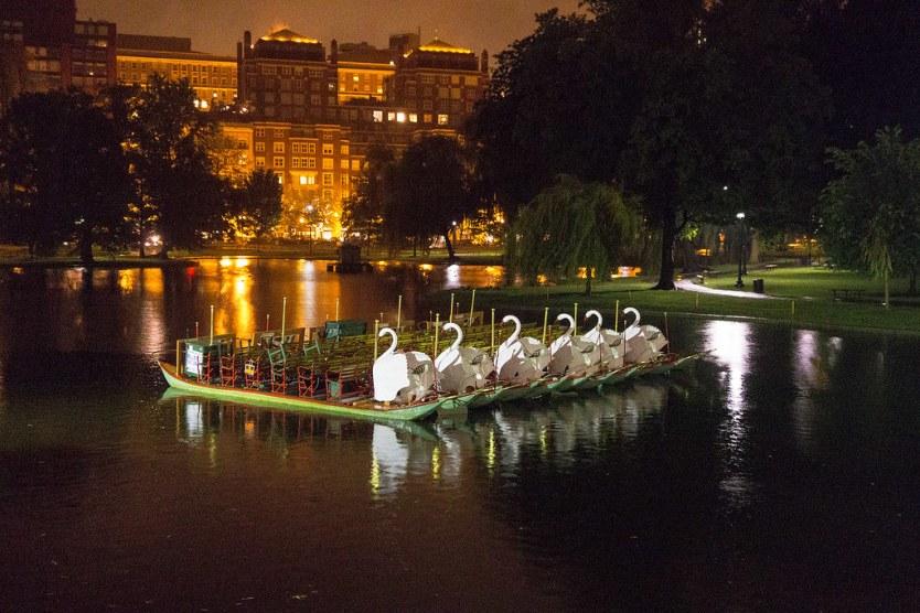 Swan Boats, Boston Public Garden.