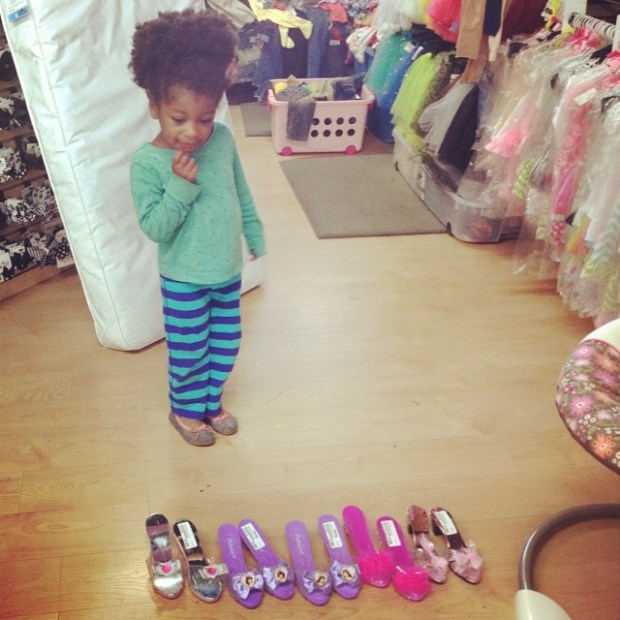 picking out cinderella dancing shoes!