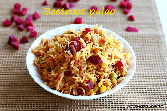 Beetroot -pulao