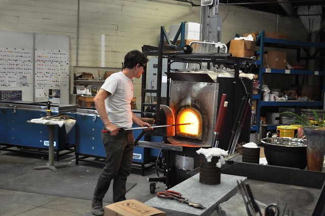 Another Masterpiece is Born in a Furnace at Sunspots Studios, Staunton, Va., April 2014
