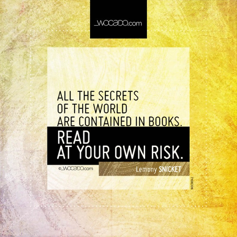 All the secrets of the world are contained in books by WOCADO.com