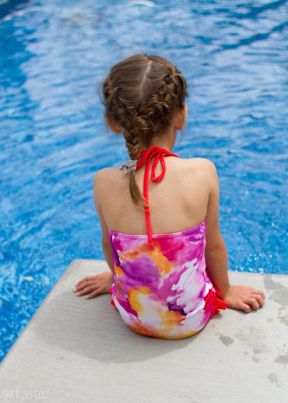 watercolor & watermelon swimsuit