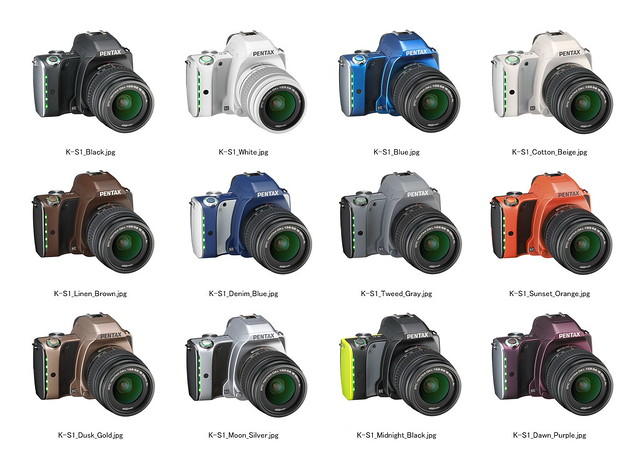Pentax K-S1 camera colors