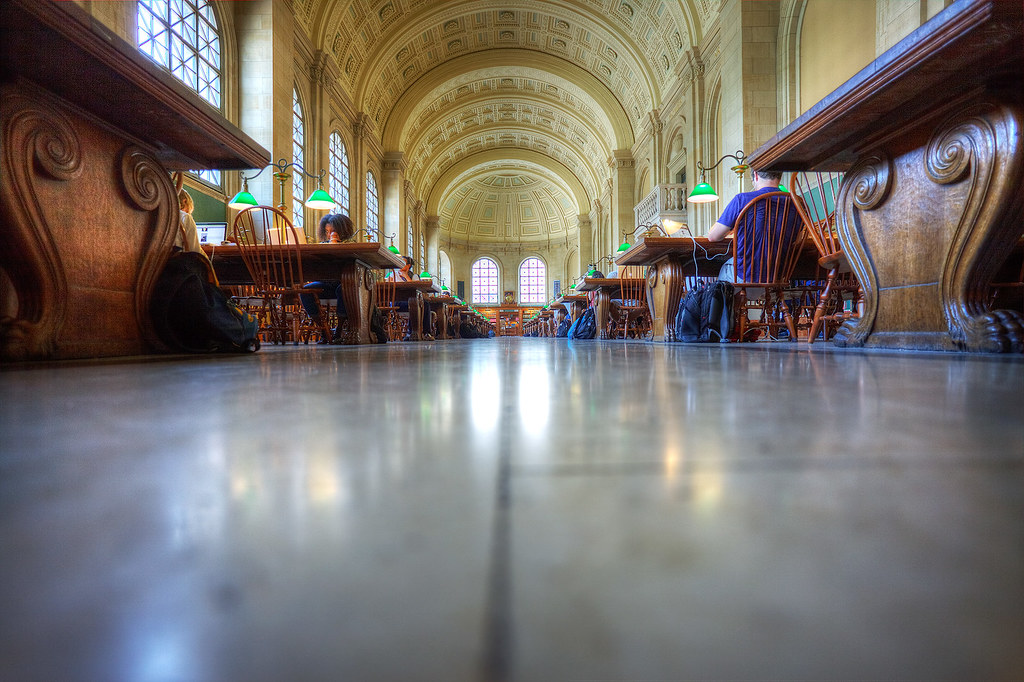 Bates Hall from a different point of view.