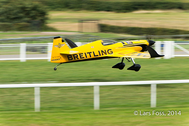 Nigel Lamb taking off for his training