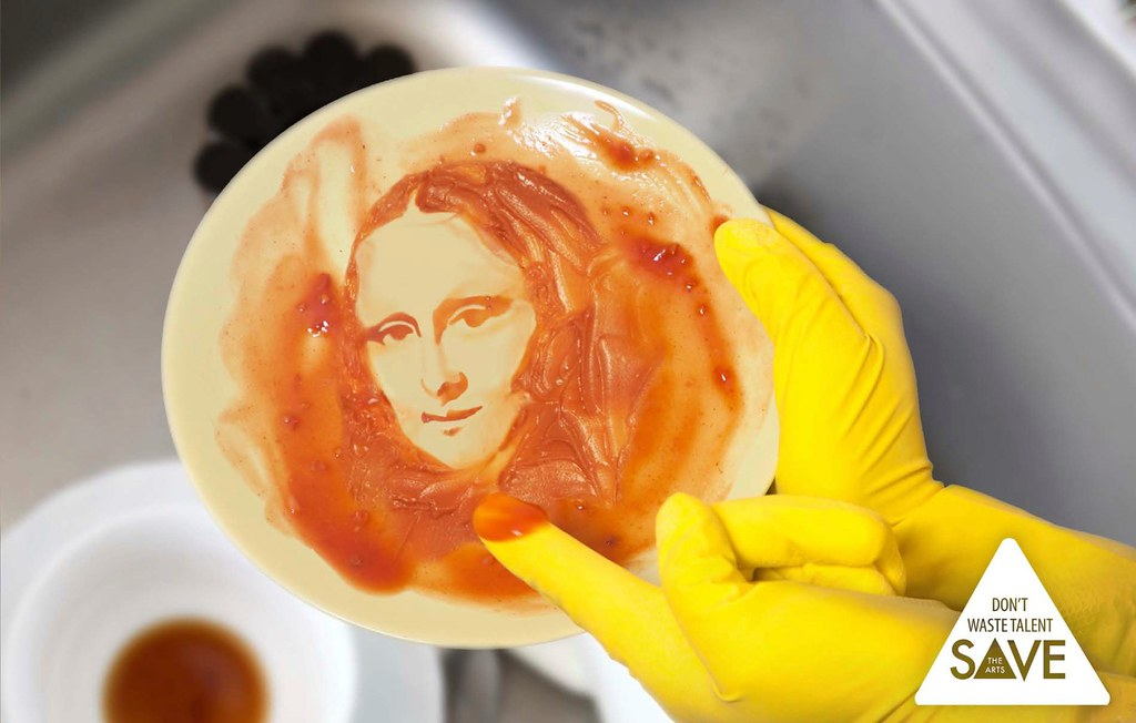 """Save the Arts - Don""""t Waste Talents Mona Lisa"""