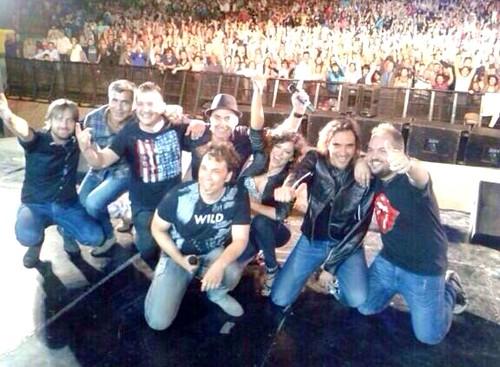 Selfie desde el escenario