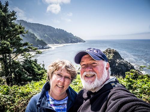 Tom and Laura at Heceta Head