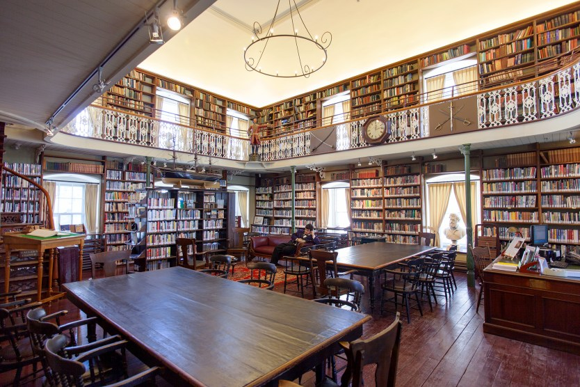 The main library reading room.