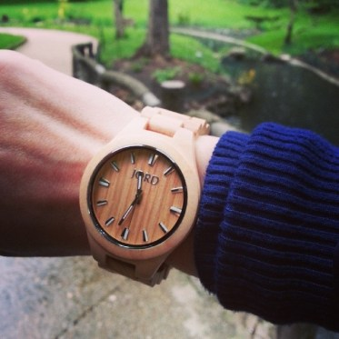 Wearing my#jordwatch today! A trendy watch made out of wood!