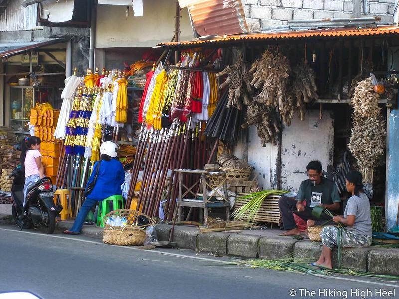 Straßenläden auf Bali