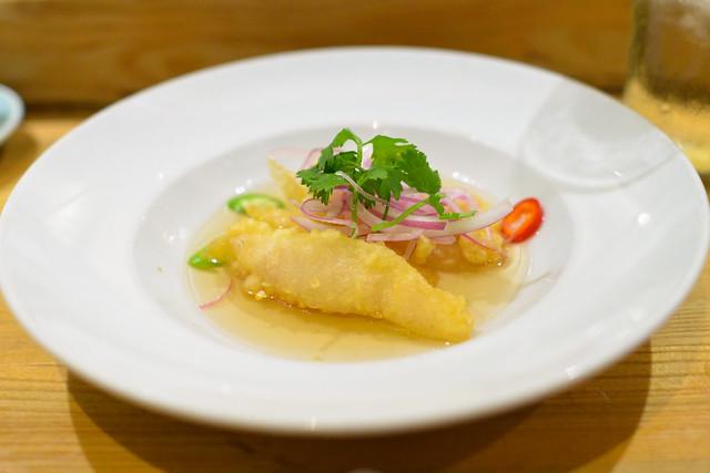 White Fish Tempura vinegar sauce