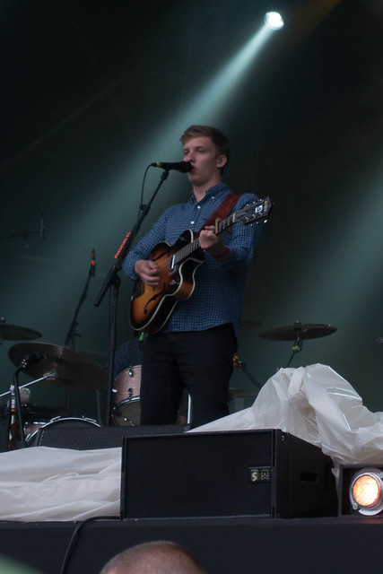 George Ezra supporting Robert Plant at Glastonbury Abbey