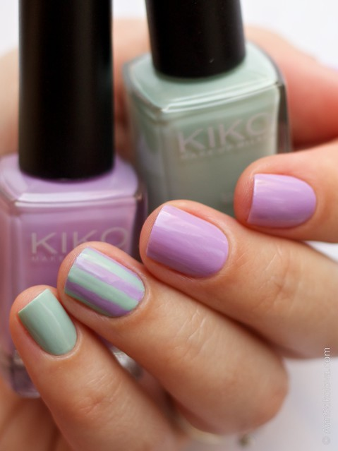 05 Kiko #345 Jade Green, Kiko #330 Lilac