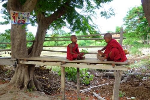 Young Buddhist novices Inwa Myanmar