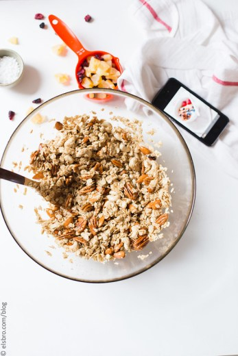 Rose Petal Granola with Dried Fruit