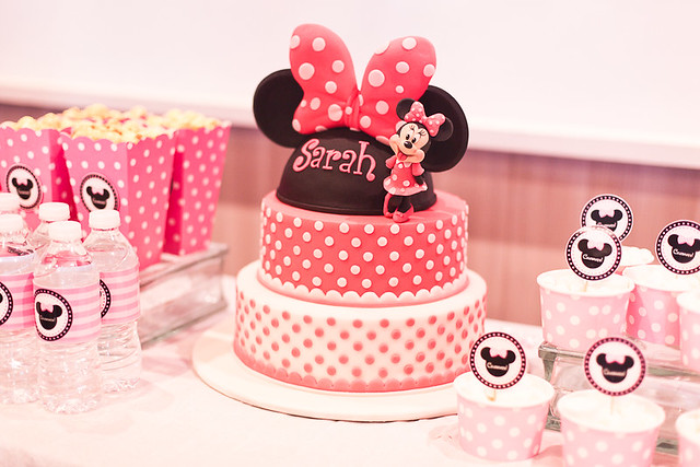 Minnie Mouse Birthday Cake and Treats