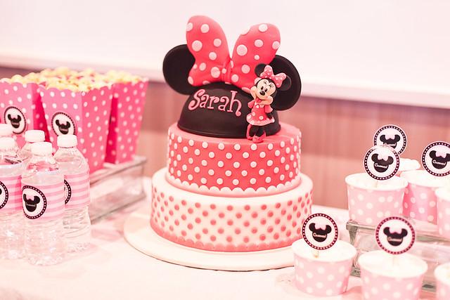 Amazing Sarahs Minnie Mouse Themed 2Nd Birthday Party Quingdom Com Funny Birthday Cards Online Unhofree Goldxyz
