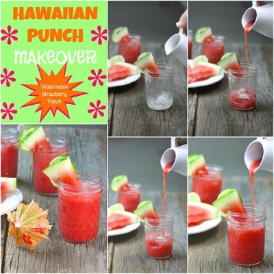 Watermelon Strawberry Punch party drink