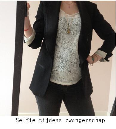 Selfie Yolande tijdens zwangerschap