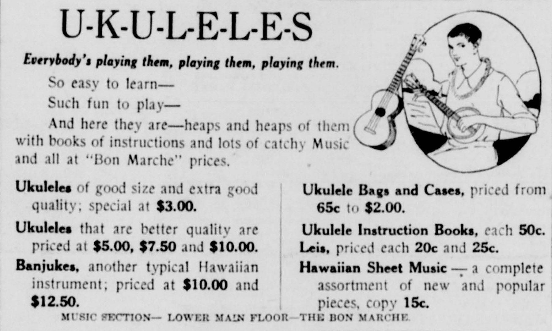 The Ukulele Craze On The U S Mainland