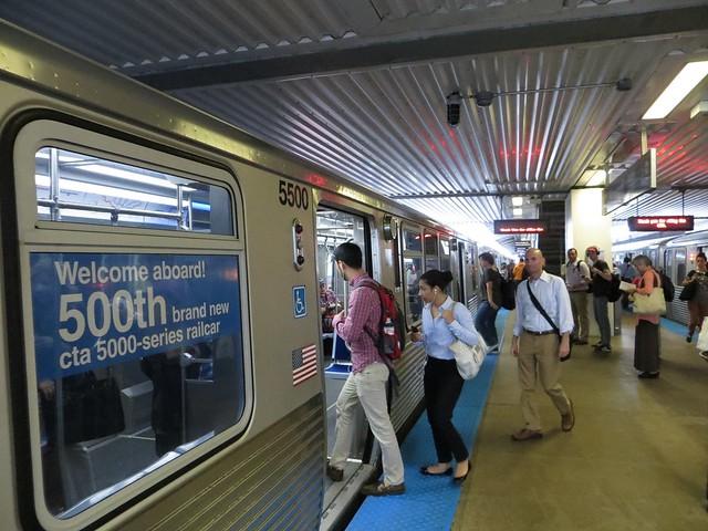 500th 5000-series CTA Railcar