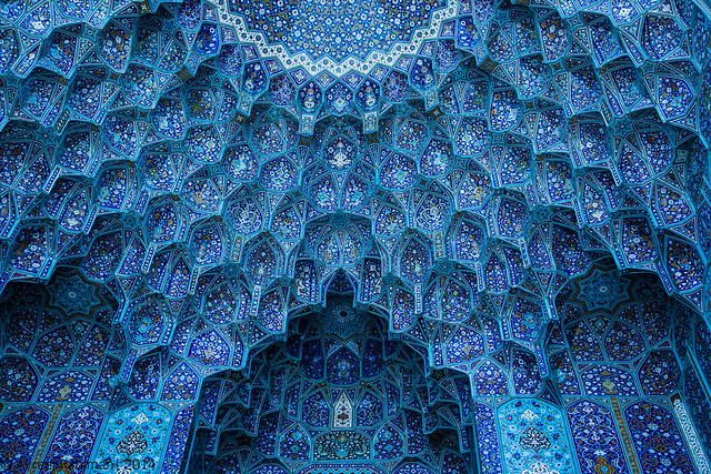 The domes of Masjid e Shah, Isfahan Iran