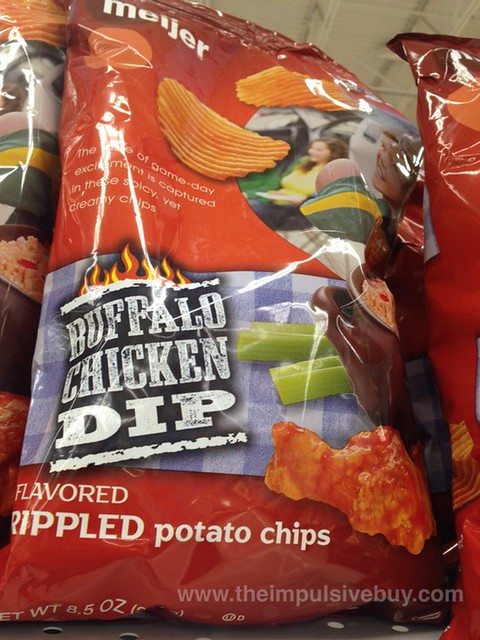 Meijer Buffalo Chicken Dip Rippled Potato Chips