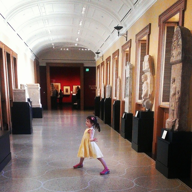 Dancing in the museum gallery with 2000 year old statutes.  So glad no art was harmed...that would have been a little bit unfortunate. ;-)