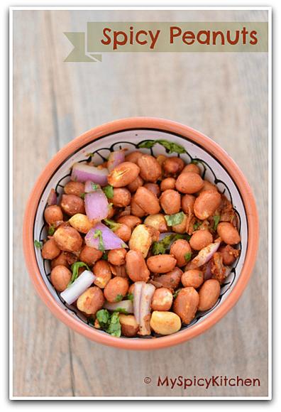 Microwave roasted spicy peanuts, peanut salad, veinchina pallilu,