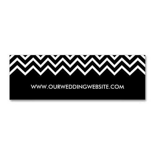 Black and White Chevron Wedding Insert Cards Business Card Template