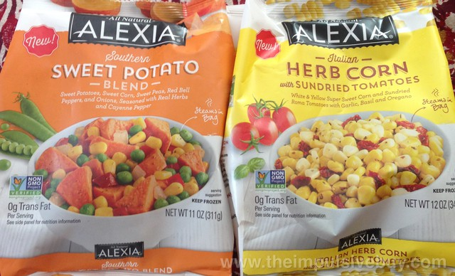 Alexia Southern Sweet Potato Blend and Italian Herb Corn with Sundried Tomatoes