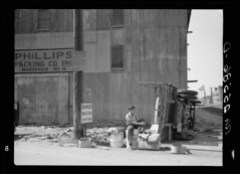 Truck Overturned During Cambridge Strike 1937 – Hi-Res