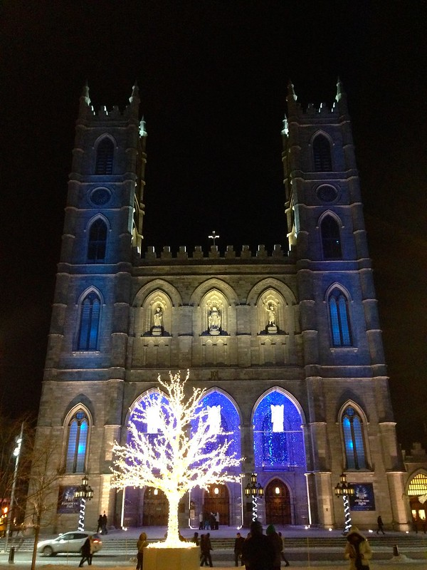 Notre Dame Basilica Night View