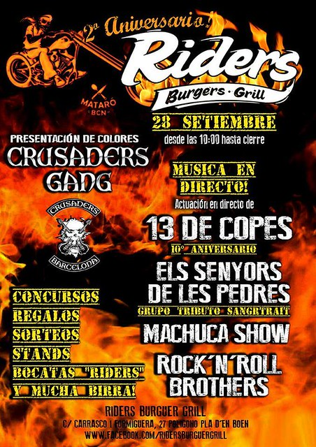 2 Aniv. Riders Burguers·Grill - Present. Colores Crusaders Gang - Mataró