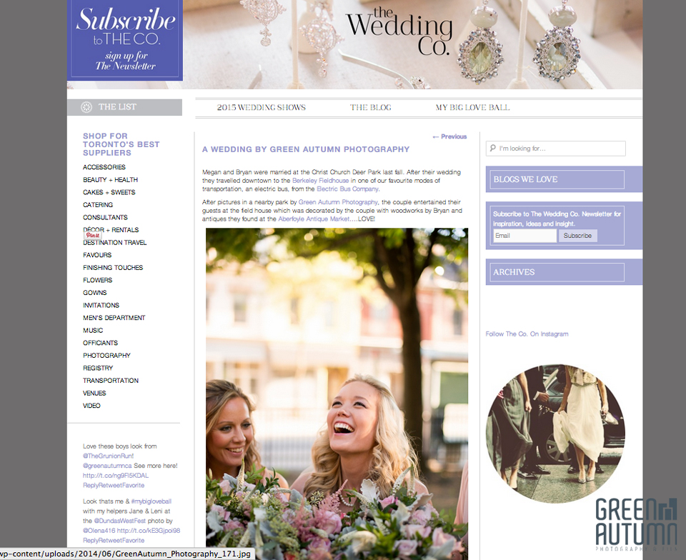 The Wedding Co Toronto Inspirational Weddding Blog and Bridal Show